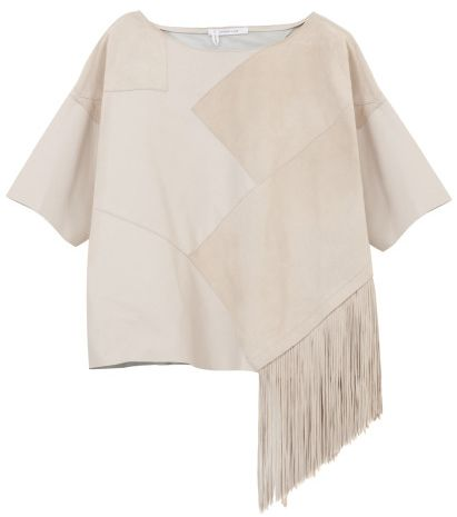 10 Crosby Derek Lam leather suede top with fringe, $1.380
