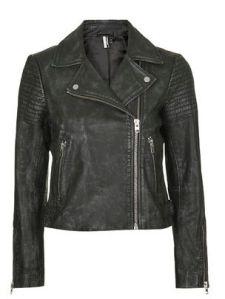 Authentic washed leather biker jacket 210.00euros