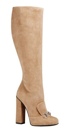 Gucci Suede horsebit knee boot, $1.495