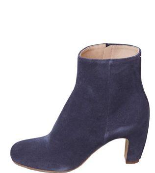 Maison Martin Margiela Line 22 Suede Curved-heel Boot, $940