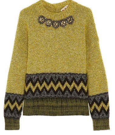 Marni crystal-embellished wool-blend sweater $1630