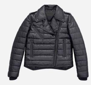 Padded leather jacket 299 euros