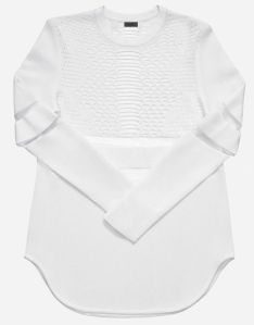 Top with a perforated pattern 129euros