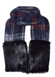 Vanities long scarf with large beaver pockets, $755