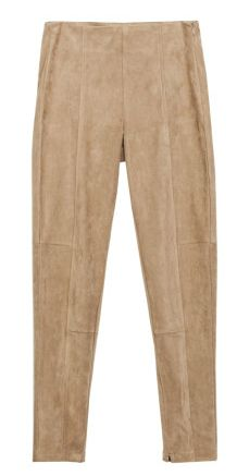 Zara seamed faux suede leggings, $60