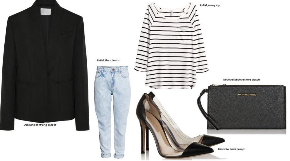 Shop at H&M and at net-a-porter for Alexander Wang, Gianvito Rossi and Michael Kors.
