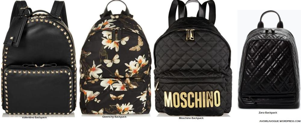 The Backpack Shop Valentino, Givenchy, Moschino at net-a-porter and Zara