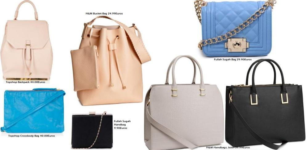 Shop Bags at H&M, Topshop and Fullah Sugah