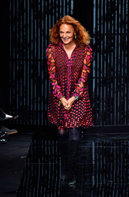 The icon herself, Diane von Furstenberg