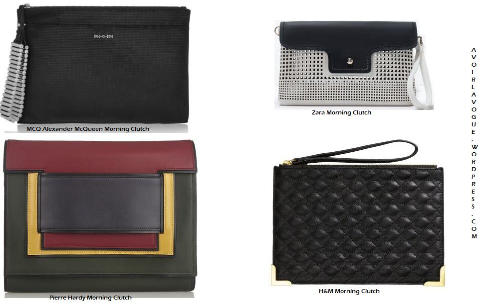 The Morning Clutch Shop Alexander McQueen and Pierre Hardy at net-a-porter, Zara and H&M