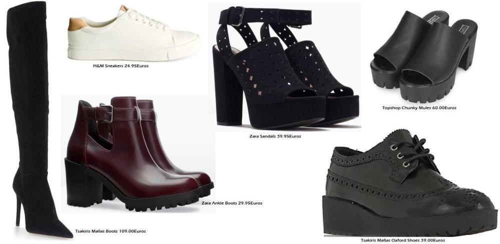 Shop Shoes at Tsakiris Mallas, Zara and H&M