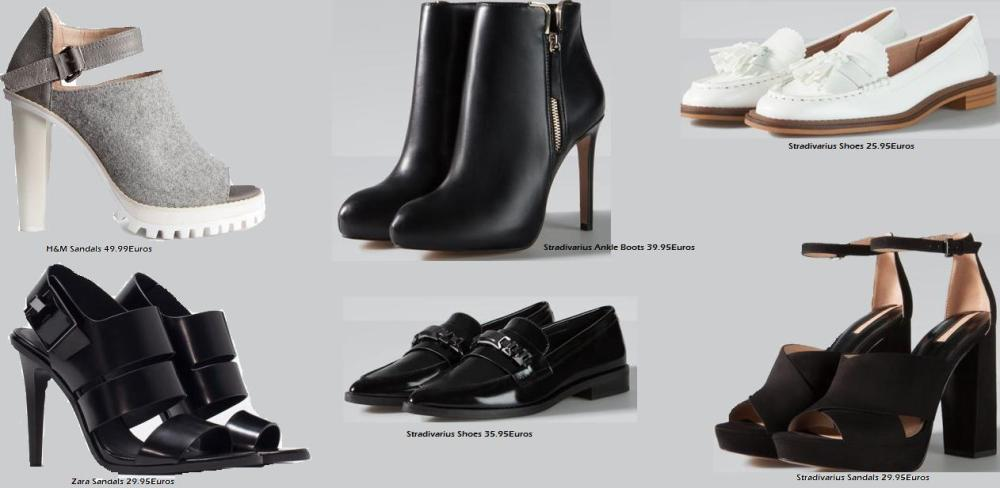 Shop Shoes at H&H, Zara and Stradivarius