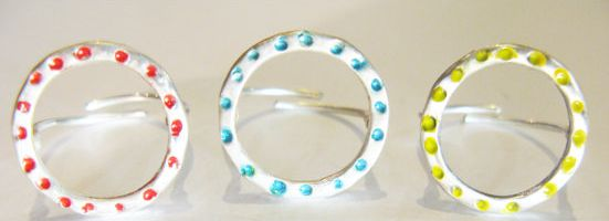 Silver Rings-color rings-dot collection